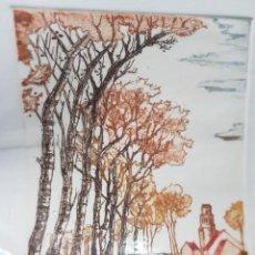Arte: GRABADO AL COBRE SERIE LIMITADA NUMERADO Y FIRMADO POR ARTISTA PAISAJE RUSTICO. Lote 240669270