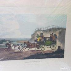 Arte: GRABADO AL COBRE SERIE LIMITADA PARIS AND DOVER COACH. Lote 240680235