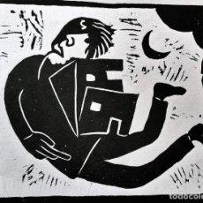 Art: FERRAN ROCA BON. XILOGRAFÍA . AÑO 1969. FIRMADA. Lote 240710225