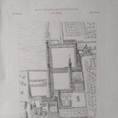 Arte: ANTIGUO PALACIO DEL BUEN RETIRO, PLANO EN PERSPECTIVA CABALLERA. BONITO GRABADO.. Lote 241073685