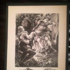 Arte: ESCENA ERÓTICA POR JOAQUIM MARTÍ BAS (1910-66). Lote 241422765