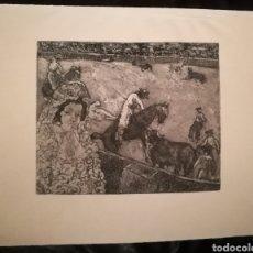 Arte: A LOS TOROS POR FRANCISCO ITURRINO (1864-1924). Lote 241426785