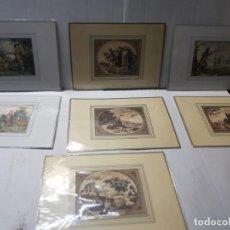 Arte: GRABADOS ANTIGUOS MEDIEVAL LOTE 8 ENMARCADOS EN CARTON. Lote 241442120