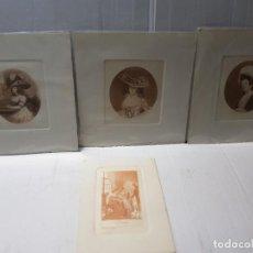 Arte: GRABADOS ANTIGUOS AL COBRE VICTORIANOS LOTE 4. Lote 241448930