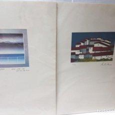 Arte: GRABADOS ANTIGUOS AL COBRE SERIE NUMERADA LOTE 2. Lote 241450470
