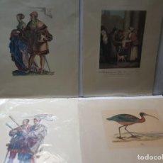 Arte: GRABADOS ANTIGUOS EN PAPEL PERGAMINO MEDIEVAL LOTE 4. Lote 241451075