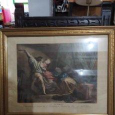 """Arte: GRABADO FRANCÉS ERÓTICO """"LE VERROU"""" DEL S.XIX. Lote 241767655"""