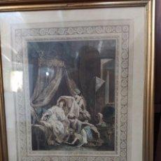 """Arte: GRABADO FRANCÉS """"LE LEVIER"""". 1771. Lote 241775200"""
