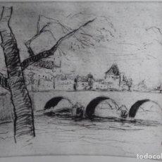 Arte: GRABADO DE FIRMA ILEGIBLE.38/100.. Lote 242410725