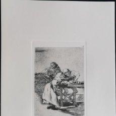 Art: GOYA,LOS CAPRICHOS N.78 DESPACHA QUE DESPIERT,AGUAFUERTE ORIGINAL DIRECTO DE PLANCHA CON CERTIFICADO. Lote 242445225