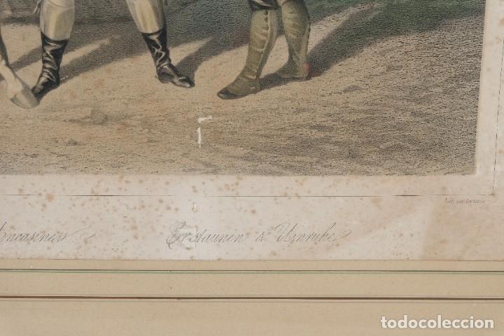 Arte: Grabado de una pintura de Cottin Escena ecuestre Bettannien grabador Imp.Lemercier Paris - Foto 6 - 242970715