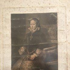 Arte: ANTIGUO GRABADO - RETRATÓ DE MARÍA TUDOR - JOSÉ VÁZQUEZ - DIBUJO ANTONIO MIRÓ - 1793 - SIGLO XVIII. Lote 243210505