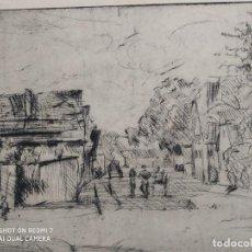 Arte: EXCEPCIONAL GRABADO PINTOR ALEMAN LUDWIG AÑO 1921, CLASICO, COLECCION. Lote 243761755