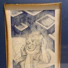 Art: GRABADO SANTIAGO SANTANA. ORIGINAL, FIRMADO Y NUMERADO 15/50. INDIGENISMO CANARIO. SURREALISMO.. Lote 243832615
