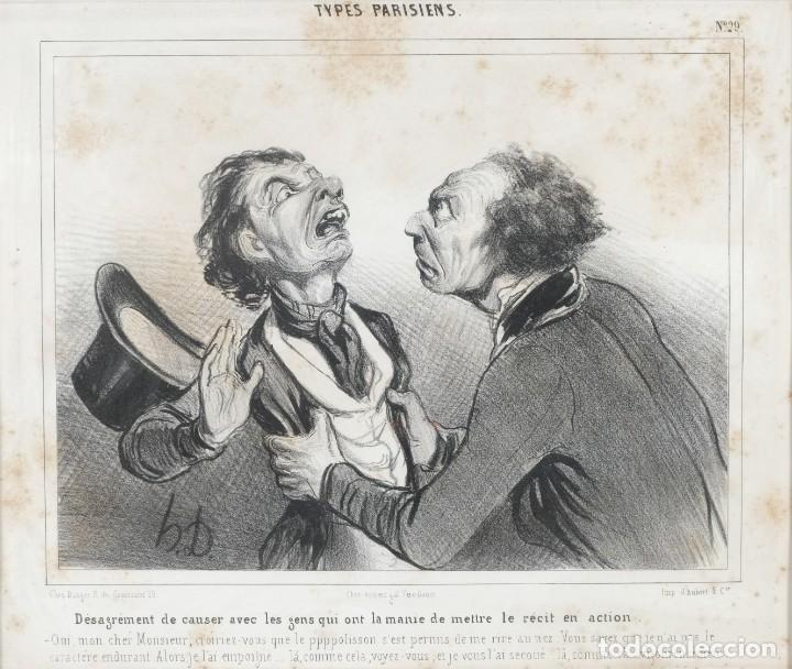 GRABADO CHEZ AMBERT GAL VERO-DODAT CARICATURAS PERSONAJES IMP. D'AUBERT & CIE SIGO 1839 (Arte - Grabados - Modernos siglo XIX)