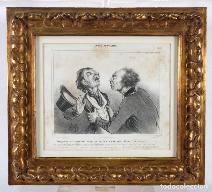 Arte: Grabado Chez Ambert gal Vero-Dodat Caricaturas personajes Imp. d'Aubert & Cie sigo 1839 - Foto 2 - 243865520