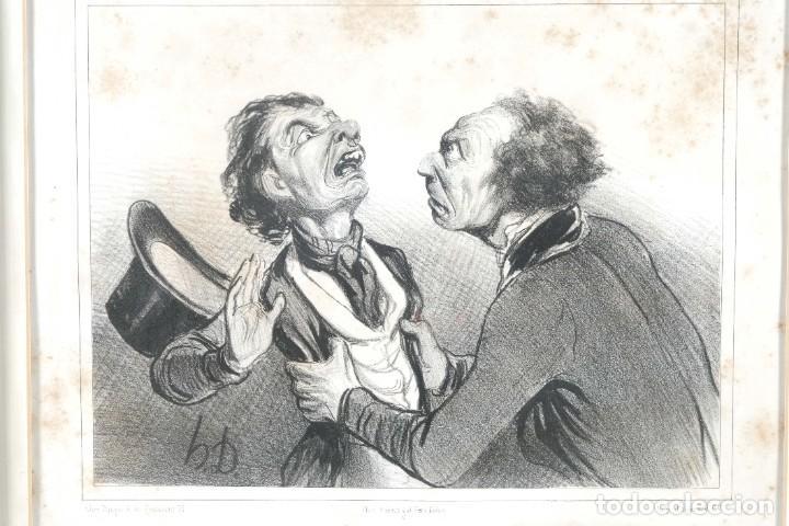 Arte: Grabado Chez Ambert gal Vero-Dodat Caricaturas personajes Imp. d'Aubert & Cie sigo 1839 - Foto 3 - 243865520