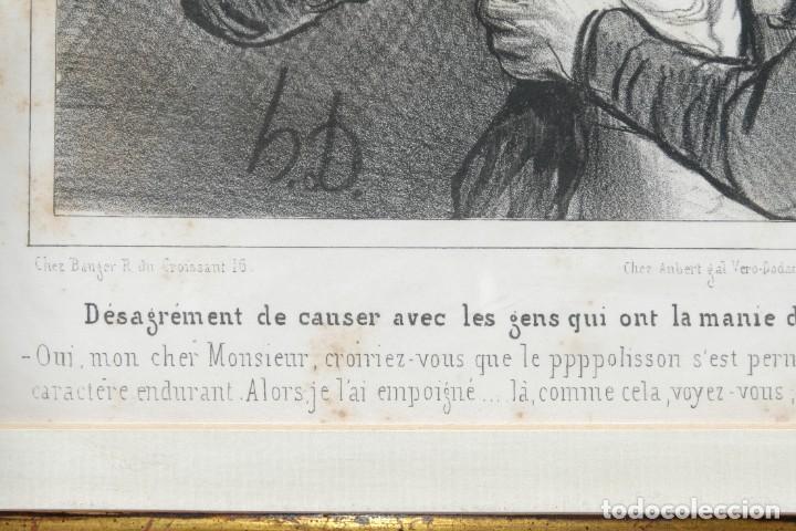 Arte: Grabado Chez Ambert gal Vero-Dodat Caricaturas personajes Imp. d'Aubert & Cie sigo 1839 - Foto 6 - 243865520