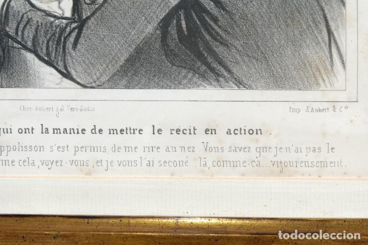 Arte: Grabado Chez Ambert gal Vero-Dodat Caricaturas personajes Imp. d'Aubert & Cie sigo 1839 - Foto 7 - 243865520
