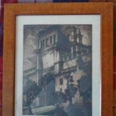 Arte: MANUEL CASTRO-GIL (LUGO 1890-MADRID, 1963) SEVILLA GRABADO 33X25 MARCO 49X38CMS FIRMA LÁPIZ Y TITULA. Lote 243879055