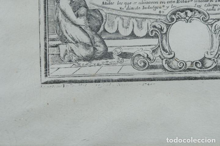 Arte: Grabado religioso Carta de esclavitud Virgen Santissima de la Merced 1740 - Foto 9 - 244007250