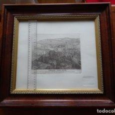 Arte: GRABADO, VISTA GENERAL DE MÁLAGA DESDE EL CASTILLO DE GIBRALFARO, SOMERA. Lote 244014470