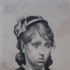 Arte: MARCELLIN DESBOUTIN. MLLE. MOU-MOU, 1880. AGUAFUERTE. Lote 244016100
