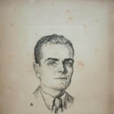 Arte: ANTONI OLLÉ PINELL (BARCELONA 1897-1981). GRABADO 21 X 16 CM. PERSONAJE.. Lote 244463960