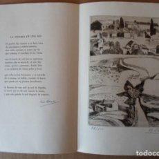 Arte: BENJAMÍN PALENCIA (ALBACETE 1894-MADD80) GRABADO 1956 EN 50X34 POEMA FIRMA LUIS ROSALES (GRANADA10). Lote 244529750