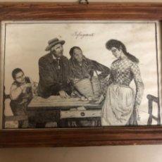 """Arte: GRABADO DE J.FERRO 1902 """"INFRAGANTI"""" ENMARCADO. Lote 244533170"""