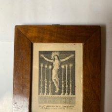 Arte: EL SSMO. CHRISTO DE SN. SALVADOR. M. SIGUENZA Gº. SE HALLARÁ EN CASA NICOLÁS SANCHIS.. Lote 244587360