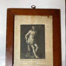 Arte: GRABADO. DEVOTA IMAGEN DEL SEÑOR ATADO A LA COLUMNA. GRABADO POR TOMAS ROCAFORT 1828.. Lote 244600920