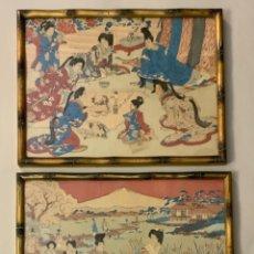 Arte: PAR XILOGRAFÍAS JAPONESAS (S.XIX). Lote 244734470