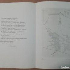 Arte: RAFAEL ÁLVAREZ ORTEGA (CÓRDOBA 1927-MADRID 2011) GRAB 1957 DE 19X25 PAPEL 24X34CMS GREGORIO MARAÑON. Lote 244781850
