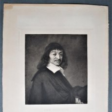 Arte: RÉNÉ DESCARTES. RETRATO. FRANS HALS PINTÓ. A. HUOT GRABÓ. AÑO 1880.. Lote 50326660