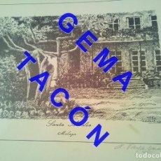 Art: SANTA AMALIA MALAGA ANTONIO VARGAS MACHUCA GRABADO NUMERADO Y FIRMADO C64. Lote 245086385