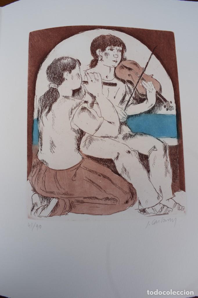 GRABADO/IMPRESIÓN DE J. CASTANY, NUMERADO (Arte - Grabados - Contemporáneos siglo XX)