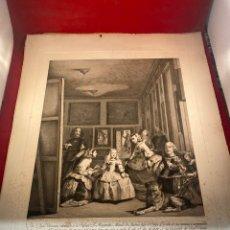 Arte: GRABADO LAS MENINAS DE PIERRE AUDOUIN - DIEGO VELAZQUEZ- IMPRENTA REAL, 1799. Lote 245186255