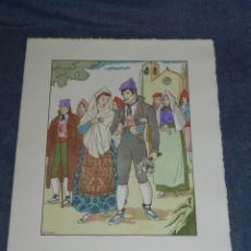Arte: (MF) VESTIDOS TIPICOS - JOAN D'IVORI EDT ORBIS - LLEIDA ANY 1840, POCHOIR, 1935. Lote 245381005
