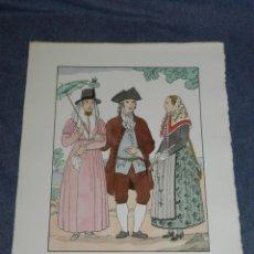 Arte: (MF) VESTIDOS TIPICOS - JOAN D'IVORI EDT ORBIS - MENORCA ANY 1720, POCHOIR, 1935. Lote 245381255