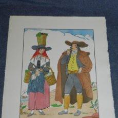 Arte: (MF) VESTIDOS TIPICOS - JOAN D'IVORI EDT ORBIS - MENORCA SEGLE XVIII, POCHOIR, 1935. Lote 245381455