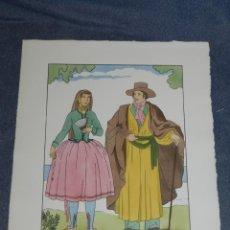 Arte: (MF) VESTIDOS TIPICOS - JOAN D'IVORI EDT ORBIS - MENORCA ANY 1807, POCHOIR, 1935. Lote 245381650