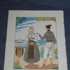 Arte: (MF) VESTIDOS TIPICOS - JOAN D'IVORI EDT ORBIS - EIVISSA IBIZA S.XVIII, POCHOIR, 1935. Lote 245383135