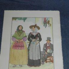 Arte: (MF) VESTIDOS TIPICOS - JOAN D'IVORI EDT ORBIS - EIVISSA IBIZA S.XIX, POCHOIR, 1935. Lote 245383325