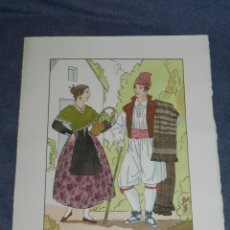 Arte: (MF) VESTIDOS TIPICOS - JOAN D'IVORI EDT ORBIS - CASTELLON S.XIX, POCHOIR, 1935. Lote 245383575