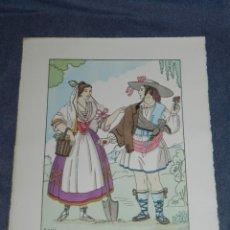 Arte: (MF) VESTIDOS TIPICOS - JOAN D'IVORI EDT ORBIS - VALENCIA S.XVIII, POCHOIR, 1935. Lote 245383950