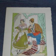 Arte: (MF) VESTIDOS TIPICOS - JOAN D'IVORI EDT ORBIS - VALENCIA S.XIX, POCHOIR, 1935. Lote 245384110