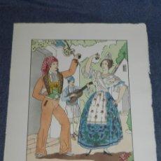 Arte: (MF) VESTIDOS TIPICOS - JOAN D'IVORI EDT ORBIS - VALENCIA S.XIX, POCHOIR, 1935. Lote 245384210
