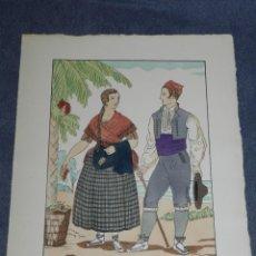Arte: (MF) VESTIDOS TIPICOS - JOAN D'IVORI EDT ORBIS - ALICANTE S.XIX, POCHOIR, 1935. Lote 245384515