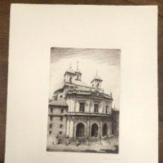 Arte: GRABADO CALCOGRAFICO REAL BASILICA SAN FRANCISCO EL GRANDE. MADRID. V. BLANCO. AÑO 1988. Lote 245414275